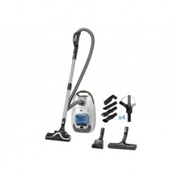 Прахосмукачка Rowenta RO6487EA, Silence Force WHITE & BLUE 4A+ - 550W- 66dB, mini turbobrush, parquet brush - 4,5L