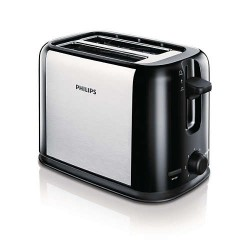 Тостер Philips HD2586/20 Daily Collection, 2 отделения, Компактен, Черен