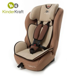 Столче за кола KinderKraft Safety Fix IsoFix, 9-36 кг, Бежово